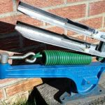 Extended hook clay trap spring fitted to a Stuart No.3