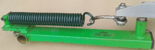 Traditional Double Hook Coil Spring fitted to a Juba trap