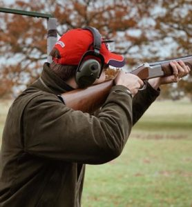 Henry breaking clays at Wilderness Reserve.
